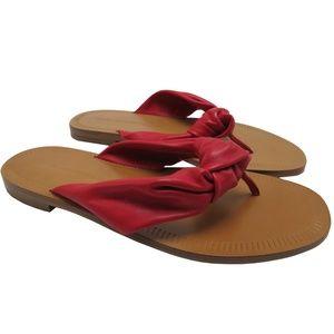 Diane Von Furstenberg leather flip flop 6M